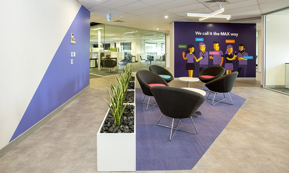 Max solutions new office fit out brisbane for Interior decorating jobs brisbane