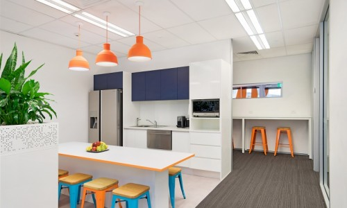 Phoenix health fund new office fit out portfolio for Kitchen designs newcastle nsw