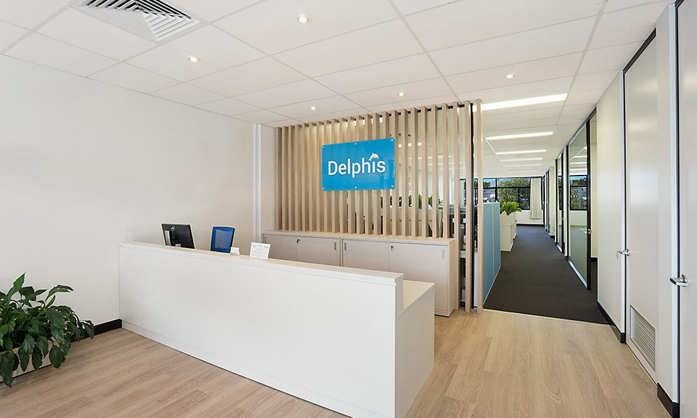 Delphis australia office fitout central coast nsw